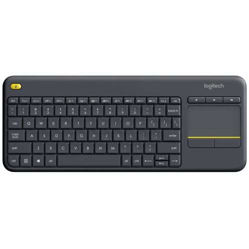 Logitech Wireless Keyboard K400 Plus CZ černá