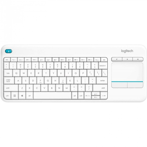 Klávesnice Logitech Wireless Keyboard K400 Plus, CZ bílá