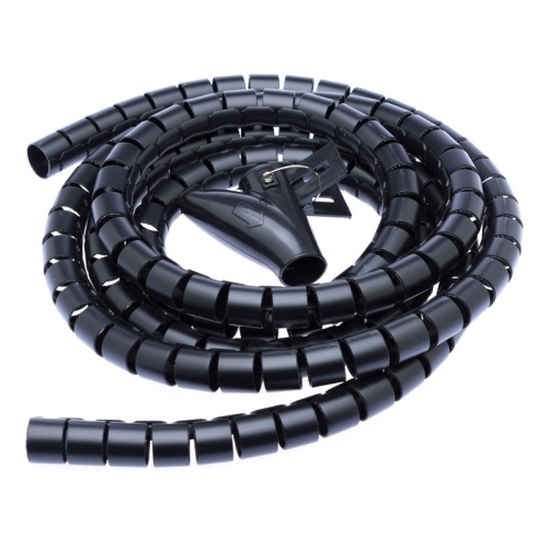 Kabel Connect IT Trubice pro kabely WINDER, 2,5m x 20mm černý