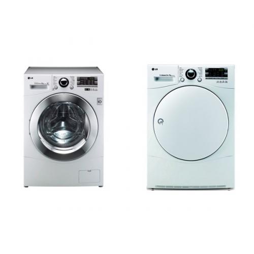 Set (Automatická pračka LG F82A8TD) + (Sušička prádla LG RC8055AH1Z)
