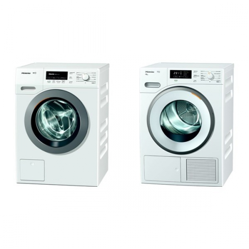 Set (Sušička prádla Miele TMB 640 WP) + (Automatická pračka Miele WKB 130 WCS)