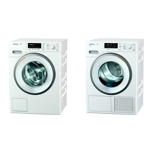 Set (Sušička prádla Miele TMB 640 WP) + (Automatická pračka Miele WMB 120 WCS)