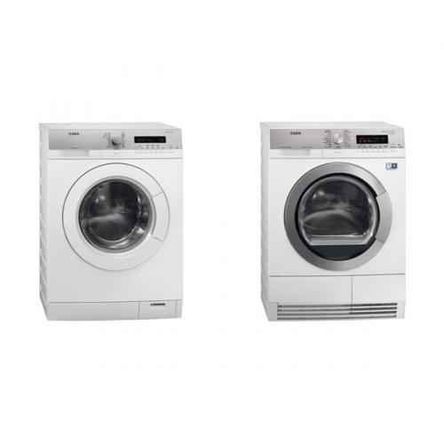Set (Sušička prádla AEG Lavatherm T86589IH3C) + (Automatická pračka AEG Lavamat L76475FL)