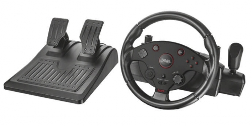 Fotografie R-TRUST Volant GXT 288 Racing Wheel pro PlayStation 3 & PC, USB (rozbaleno)