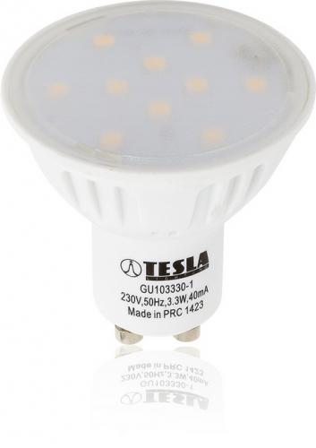Tesla bodová, 3,3W, GU10, teplá bílá