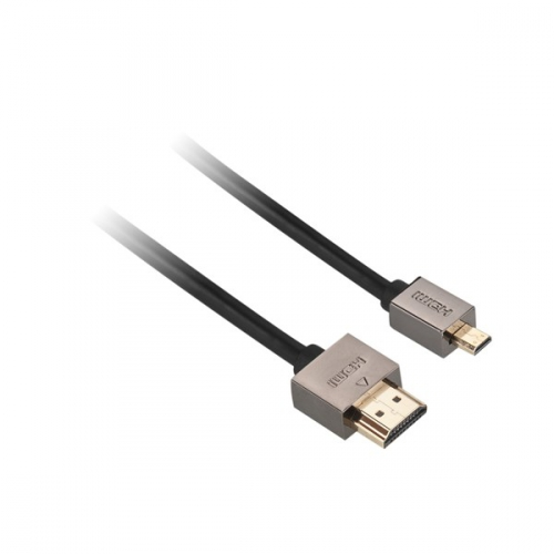 Kabel GoGEN HDMI / HDMI micro, 1,5m, v1.4, pozlacený, High speed, s ethernetem černý