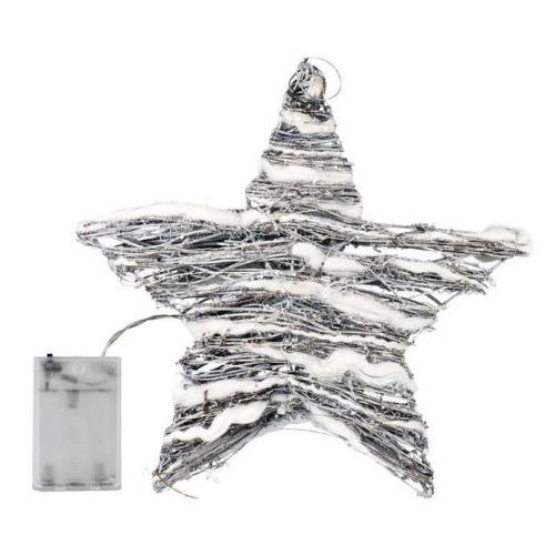 EMOS 30 LED, hvězda-ratan, denní bílá