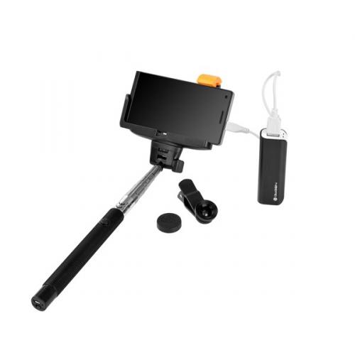 GoGEN 3in1, selfie tyč, power bank, mini objektiv