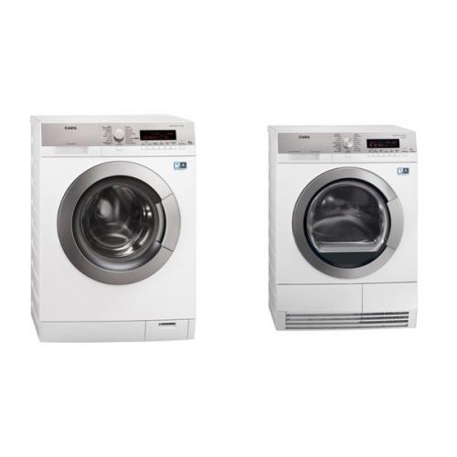 Set (Sušička prádla AEG Lavatherm T86589IH3C) + (Automatická pračka AEG Lavamat L87495PFLC)