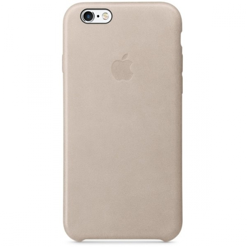 Apple Leather Case pro iPhone 6s - Rose Gray