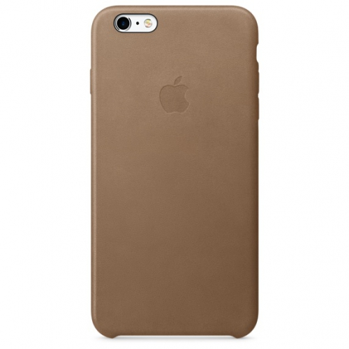 Apple Leather Case pro iPhone 6S Plus - Brown