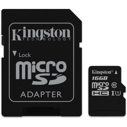 Fotografie Kingston 16GB UHS-I U1 (45R/10W) + adapter