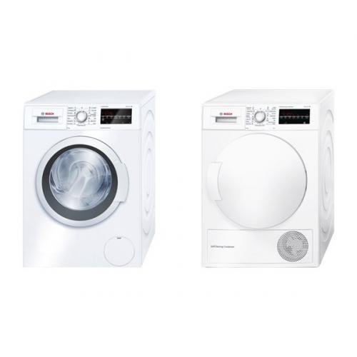 Set (Automatická pračka Bosch WAT24460BY) + (Sušička prádla Bosch WTW83460BY)