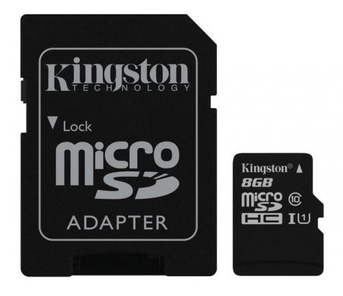 Kingston 8GB UHS-I U1 (45R/10W) + adapter
