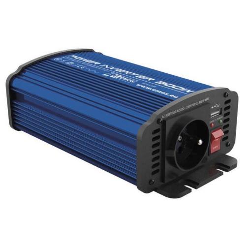 Měnič napětí do auta 12V/230V, 300W, USB 2100mA