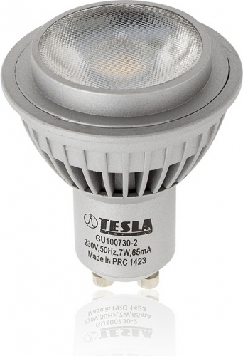 Tesla bodová, 7W, GU10, teplá bílá