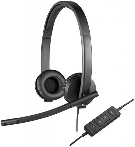 Fotografie Logitech USB Headset H570e Stereo, OEM