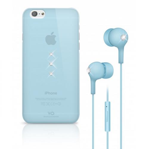 Fotografie White Diamonds Crystal pro iPhone 6/6s + sluchátka modrý (WD-7007TRI65)