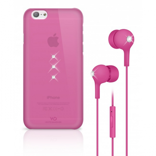 White Diamonds Crystal pro iPhone 6 + sluchátka růžový