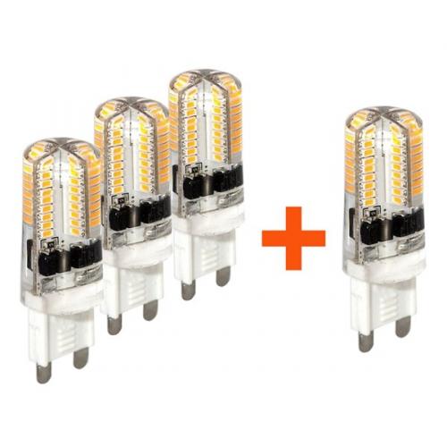 Set (4x Žárovka LED Tesla bodová, 3W, G9, teplá bílá)