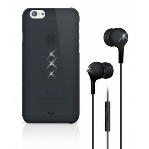 White Diamonds Crystal pro iPhone 6 + sluchátka černý