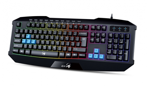 Genius GX Gaming Scorpion K215, CZ/SK černá/modrá