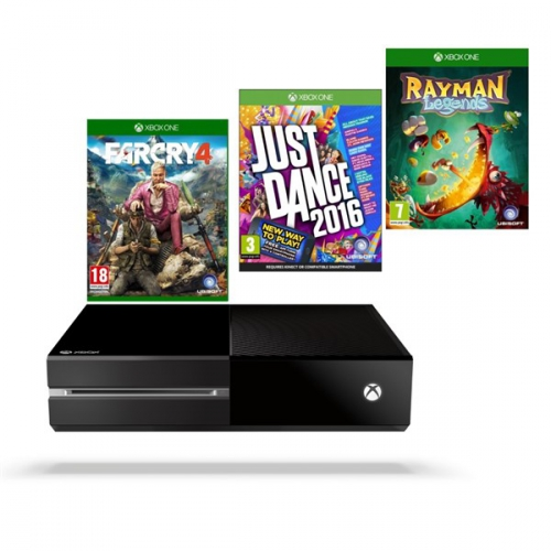 Microsoft Xbox One 1 TB + hra XONE Far Cry 4 + hra XONE Rayman Legends + hra XONE Just Dance 2016