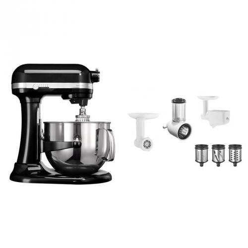 Set (Příslušenství k robotům KitchenAid 5KR7SB) + (Příslušenství k robotům KitchenAid FPPC) + (Kuchyňský robot KitchenAid Artisan 5KSM7580XEOB)