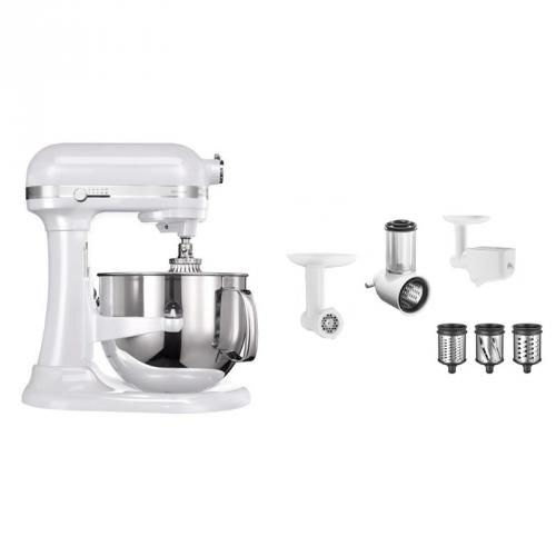 Set (Příslušenství k robotům KitchenAid 5KR7SB) + (Příslušenství k robotům KitchenAid 5KSMFPPC) + (Kuchyňský robot KitchenAid Artisan 5KSM7580XEFP)