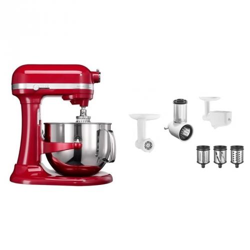 Set (Příslušenství k robotům KitchenAid 5KR7SB) + (Příslušenství k robotům KitchenAid FPPC) + (Kuchyňský robot KitchenAid Artisan 5KSM7580XEER)