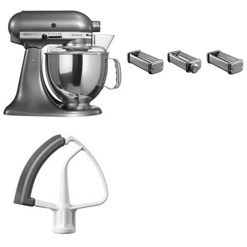 Set (Příslušenství k robotům KitchenAid KPRA) + (Kuchyňský robot KitchenAid Artisan 5KSM150PSEMS)