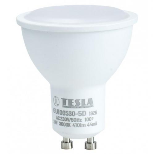 Tesla bodová, 5W, GU10, teplá bílá, stmívatelná