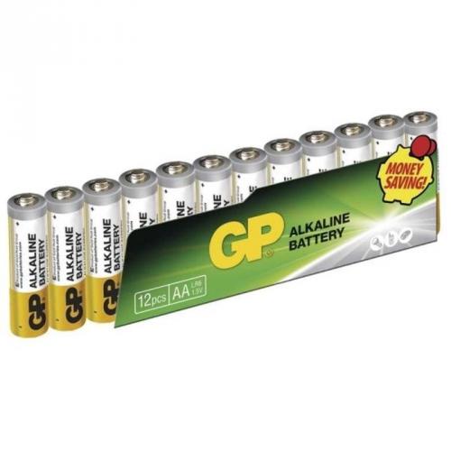 Baterie alkalická GP AA, LR06, fólie 12ks