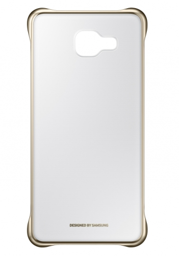 Samsung Clear Cover pro Galaxy A3 2016 zlatý