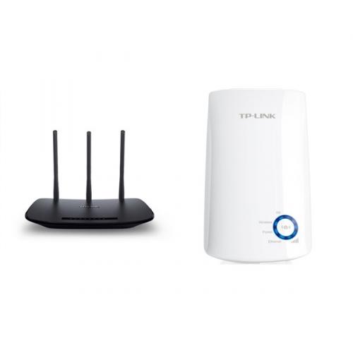 Set (WiFi extender TP-Link TL-WA850RE) + (Router TP-Link TL-WR940N)