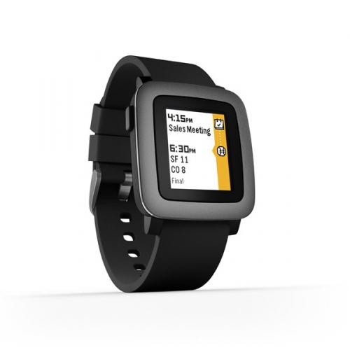 Pebble Time Smartwatch černá