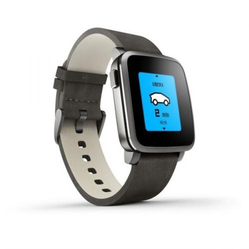 Pebble Time Steel Smartwatch černá