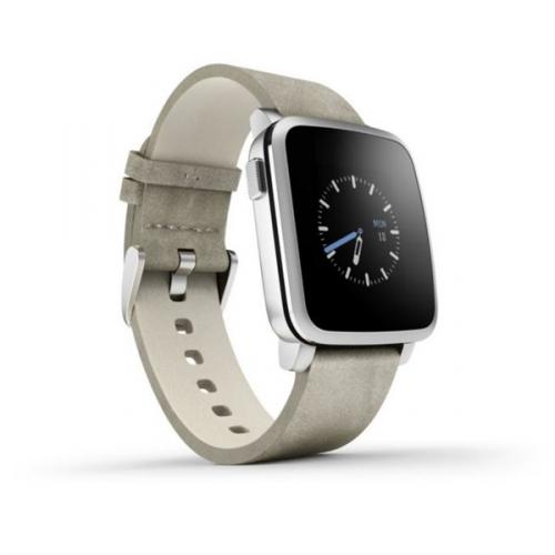 Pebble Time Steel Smartwatch stříbrná