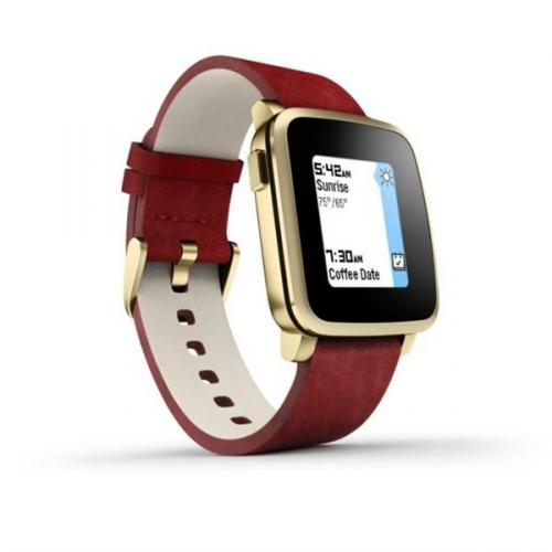 Pebble Time Steel Smartwatch zlatá