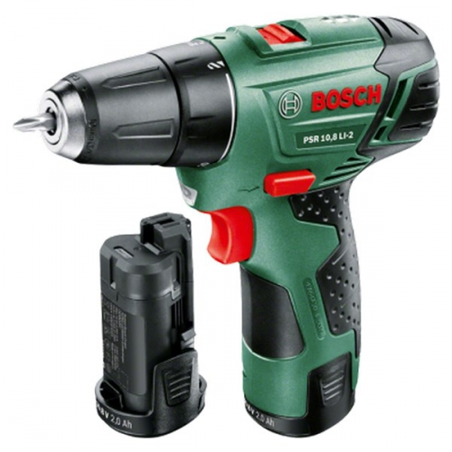 Bosch PSR 10,8 LI-2 (2 aku, upgrade) zelená