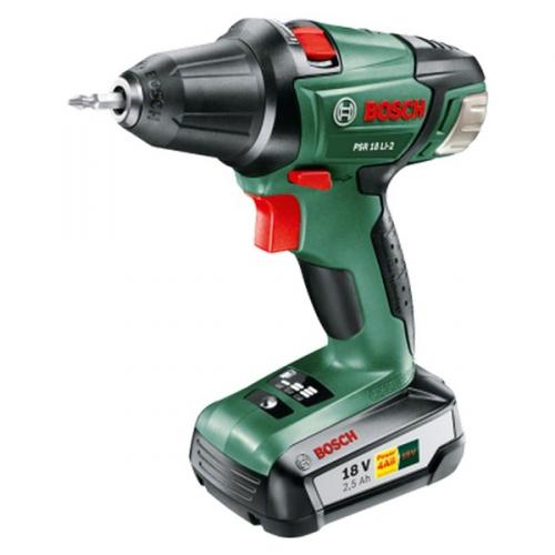 Bosch PSR 18 LI-2 (1 aku, 2,5 Ah) zelená