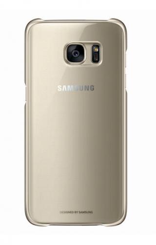 Fotografie Samsung Clear Cover pro Galaxy S7 Edge (EF-QG935C) zlatý (EF-QG935CFEGWW)