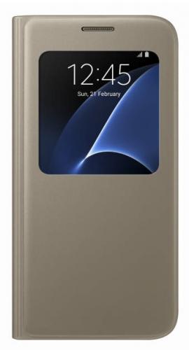 Fotografie Samsung S-View pro Galaxy S7 (EF-CG930P) zlaté (EF-CG930PFEGWW)