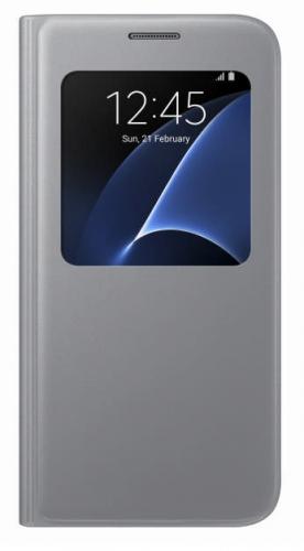 Fotografie Samsung S-View pro Galaxy S7 (EF-CG930P) stříbrné (EF-CG930PSEGWW)