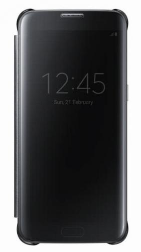 Fotografie Samsung Clear View pro Galaxy S7 Edge (EF-ZG935C) černé (EF-ZG935CBEGWW)