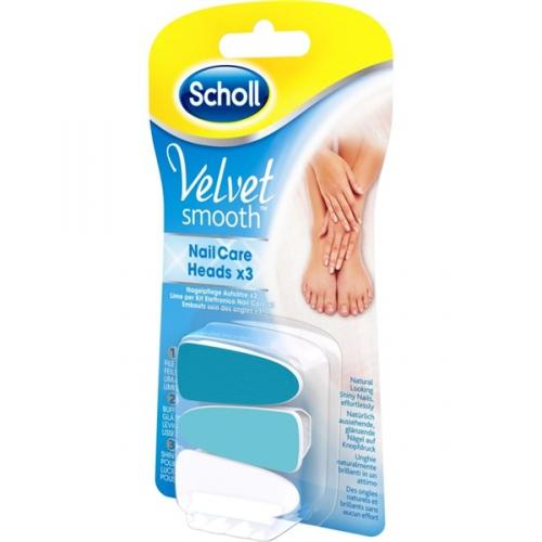 Náhradní hlavice do elektrického pilníku na nehty Scholl Velvet Smooth