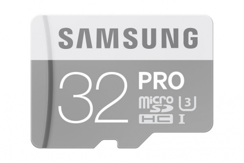 Samsung Micro SDHC PRO 32GB UHS-I U3 (90R/80W) + adapter