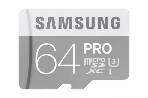 Samsung Micro SDXC PRO 64GB UHS-I U3 (90R/80W) + adapter