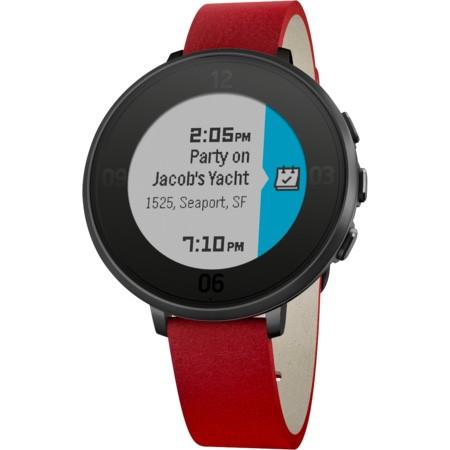 Pebble Time Round Smartwatch, 14mm pásek černé/červené