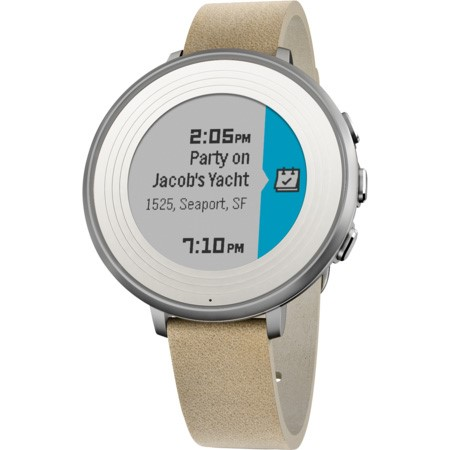 Pebble Time Round Smartwatch, 14mm pásek stříbrné